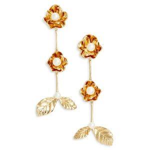 NEW Kate Spade Lavish Blooms Linear Earrings